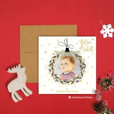 cartão natal personalizado foto
