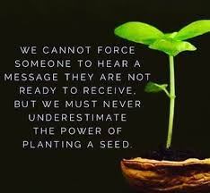 Seed are planted every day