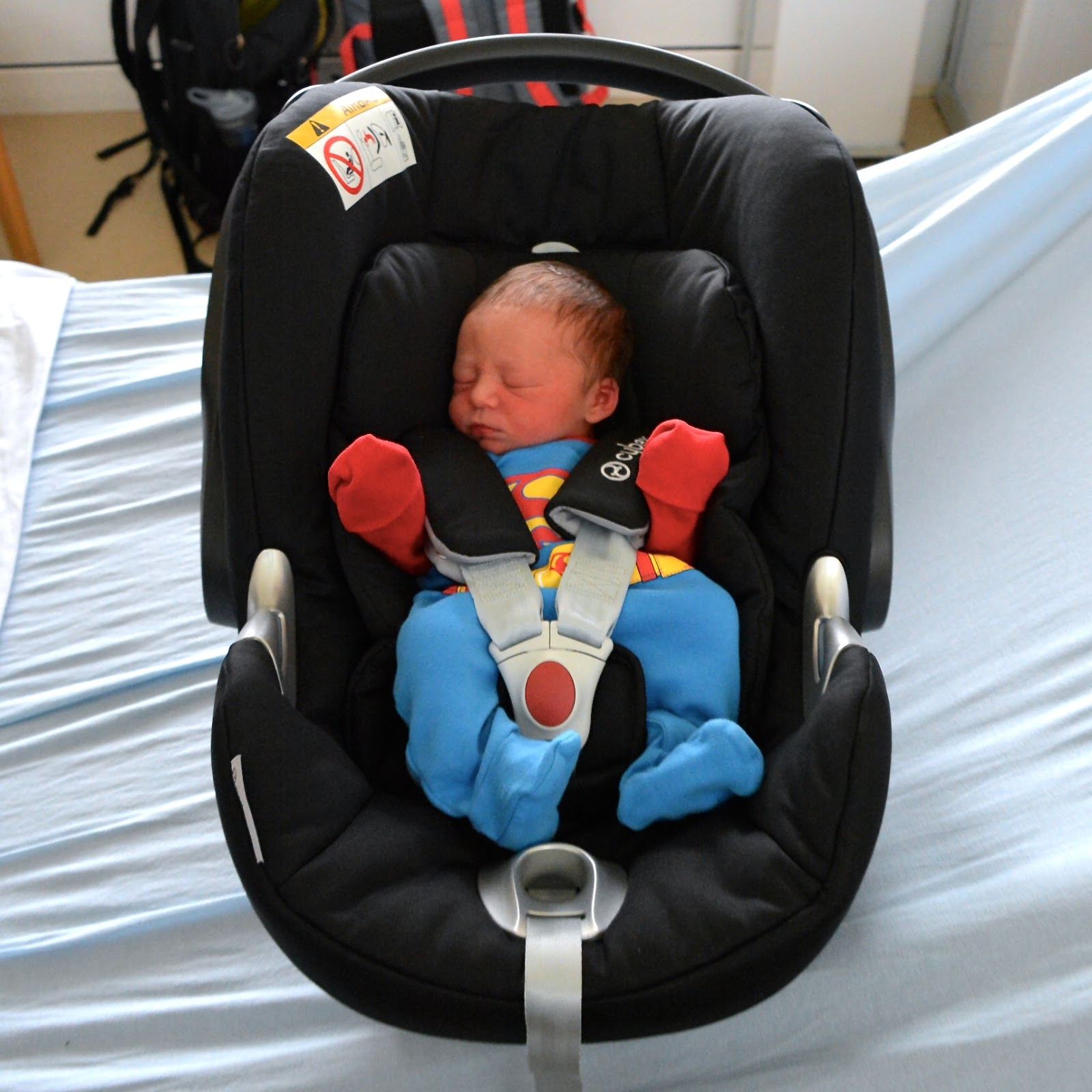 Finley in carseat