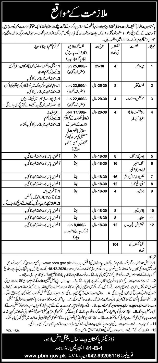 Latest Pakistan Bait Ul Mal PDM Jobs  2020 Online Apply