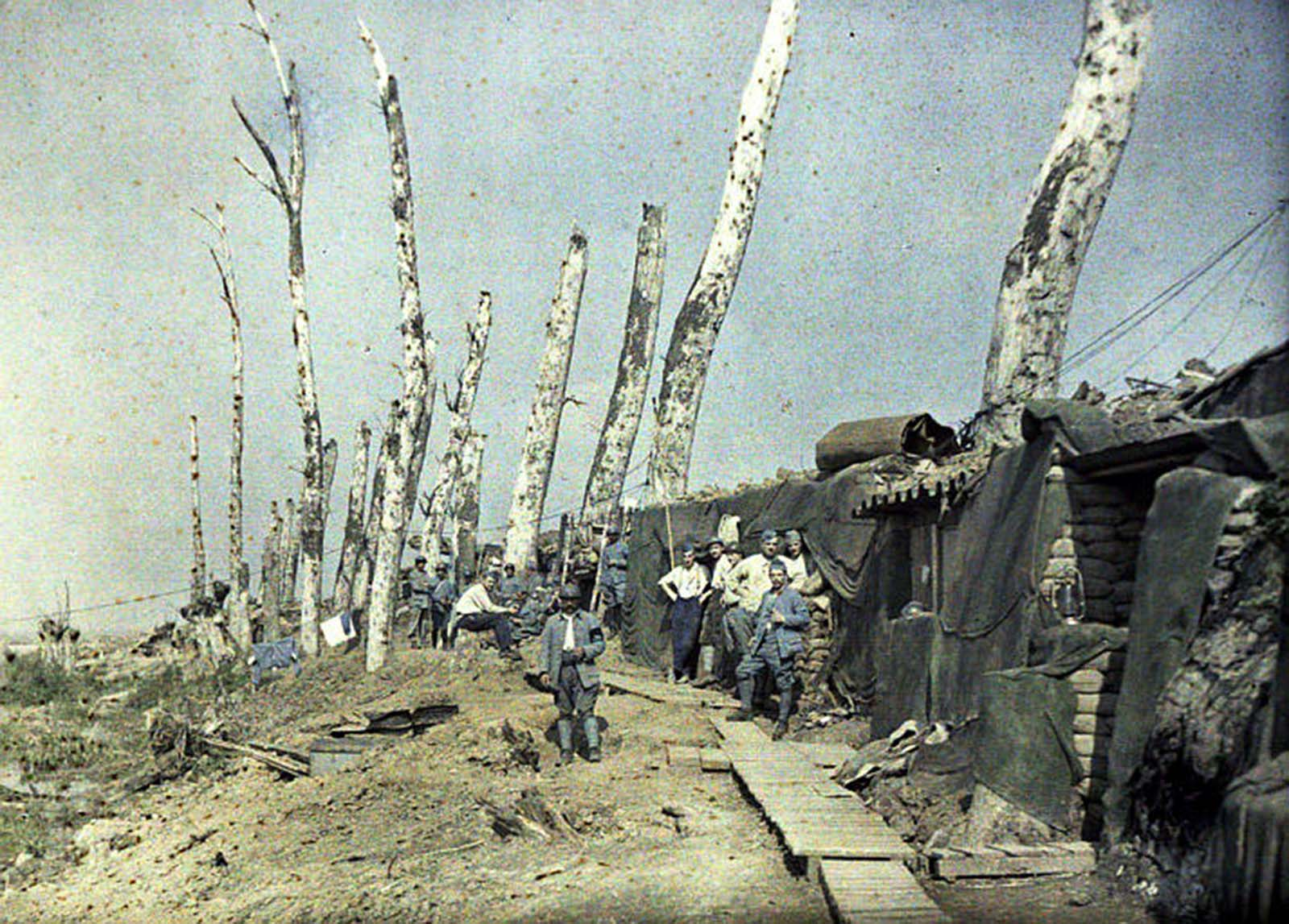 color photos french army great war