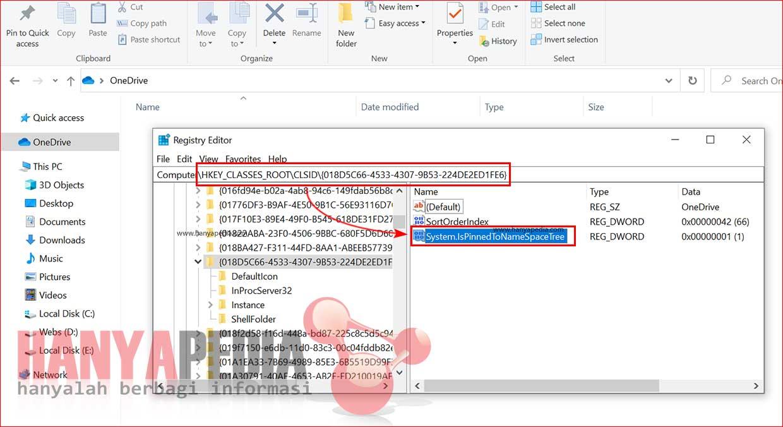 Cara Menghapus Pintasan OneDrive dari Jendela Explorer di Windows 10