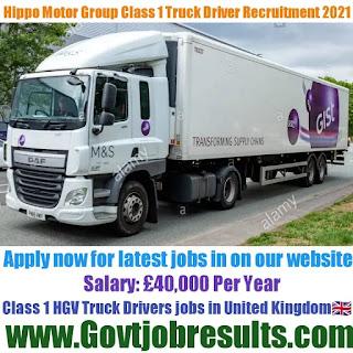Hippo Motor Group  Class 1 HGV Truck Driver Recruitment 2021-22