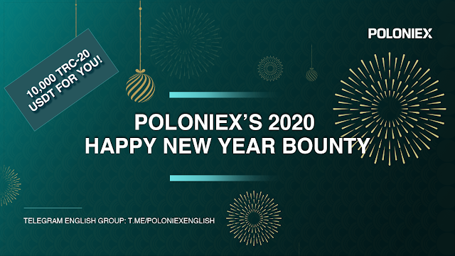 Poloniex tặng airdrop 10.000 TRC-20 USDT nhân dịp năm mới
