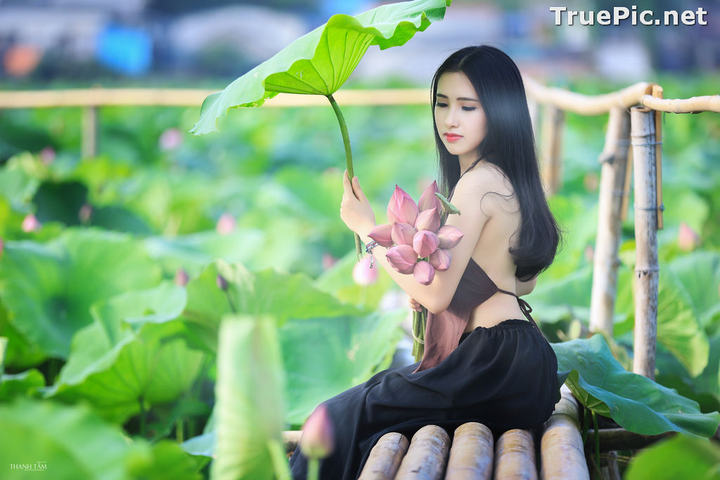 Image Vietnamese Model - Hong Rubyshi - Beauty Girl and Lotus Flower #1 - TruePic.net - Picture-8