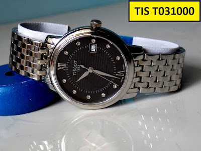 Đồng hồ nam dây inox trắng Tis T031000