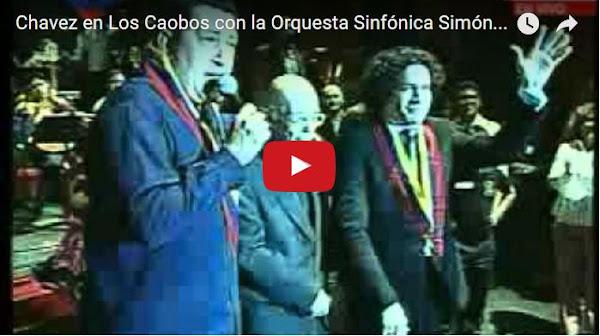 Gustavo Dudamel resteado con Chavez y Maduro