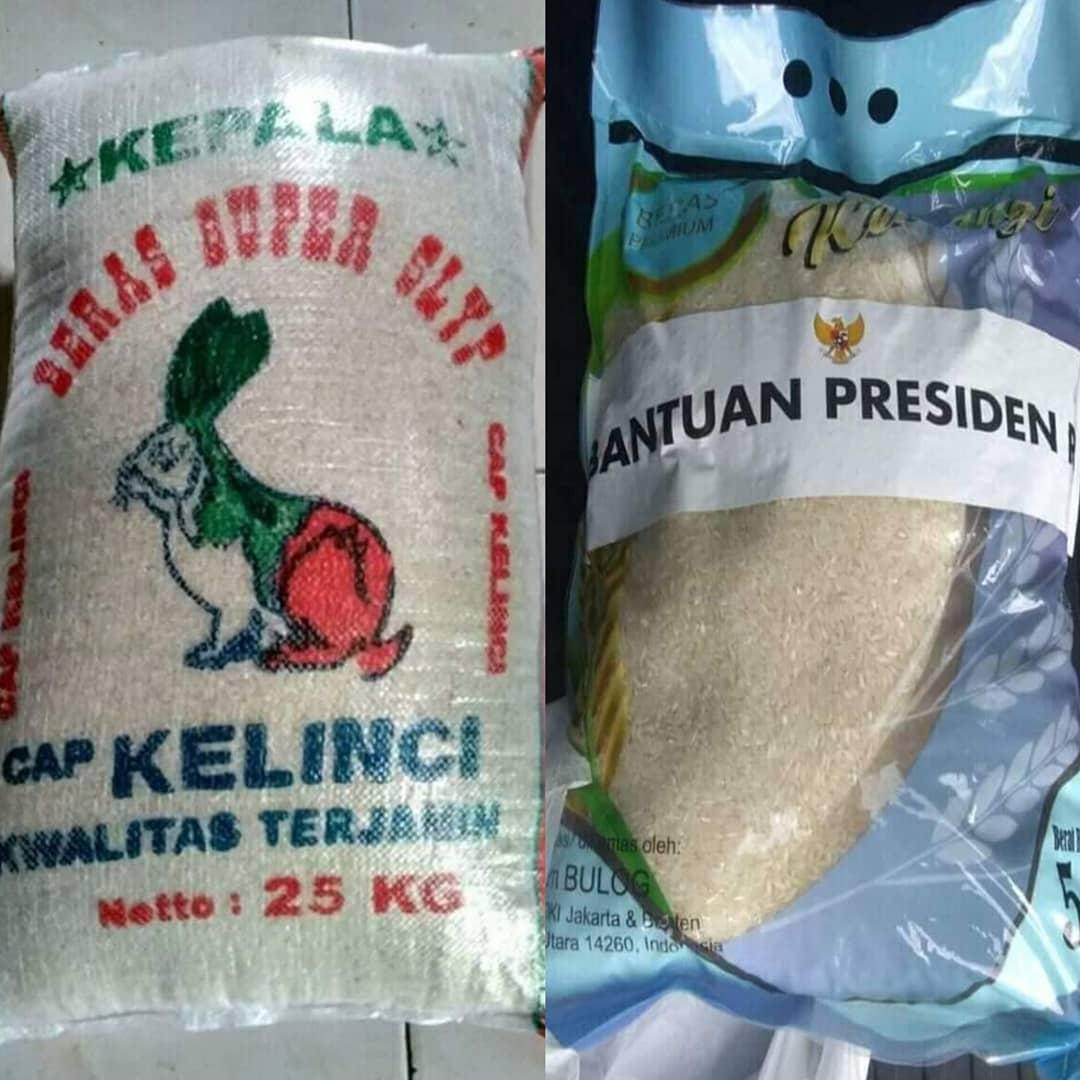 Perbedaan Beras dari Anies vs dari Jokowi