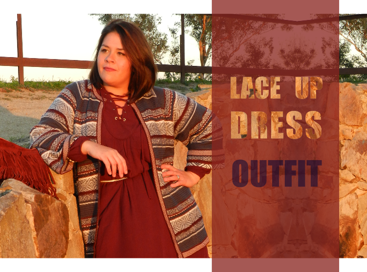 Lace Up Dress · Outfit