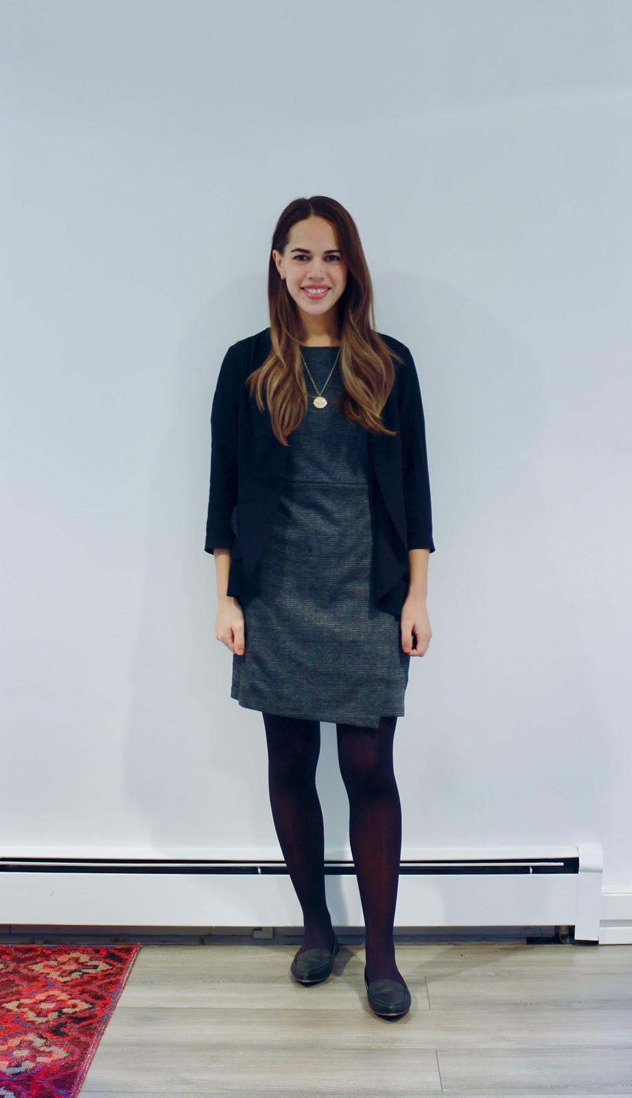 Jules in Flats - Plaid Shift Dress (Business Casual Fall Workwear on a Budget)