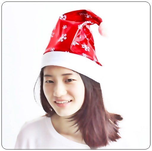Topi Santa Claus Motif Ornament Salju - Balloon Corner