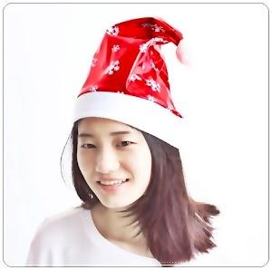 Topi Santa Claus Motif Ornament Salju