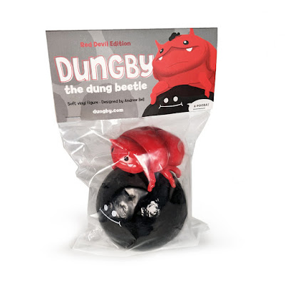 Dungby & Pooba Red Devil Edition Soft Vinyl Figure Set by Andrew Bell x myplasticheart