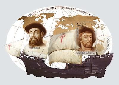 V Centenario de la Expedición Magallanes - Elcano - Bloque - 2019