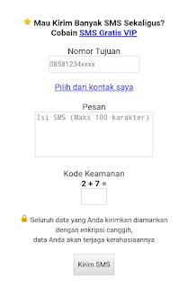✓ Cara SMS gratis ke semua operator di Indonesia (Telkomsel, Indosat, Three, Axis dan XL)