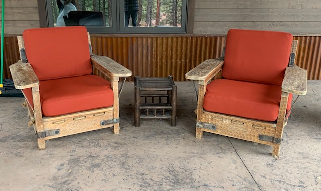 Nip N Tuck Upholstery Rustic Patio Chairs