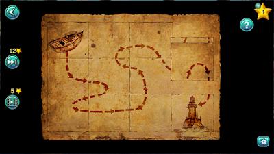 полностью собранная карта с проложенным путем для путешествия