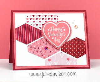 Stampin' Up! From the Heart Valentine's Day Card ~ 2020 Spring Mini Catalog ~ www.juliedavison.com