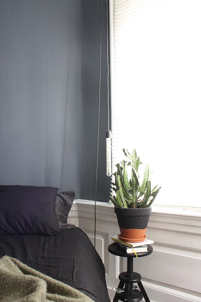 peinture murs gris fonce