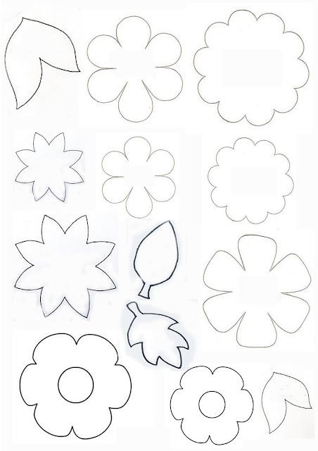 Nella valigia della Buru: Cartamodelli per fiori e foglie