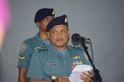 Asrena Danlantamal VI  Bacakan Amanat Kasal Pada Upacara Bendera