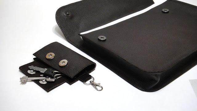 Папка деловая кожа и ключница для пяти ключей - коричневый цвет, плотная натуральная кожа, ручная работа. Единственный экземпляр