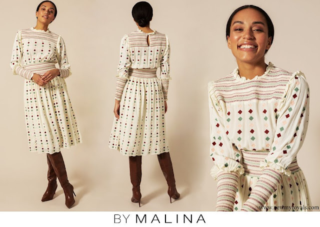Crown Princess Victoria wore By Malina Comfy Maisy dress