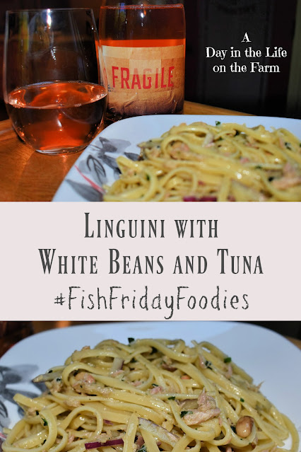 Linguini with Tuna and White Beans and a Rose from Maury pin