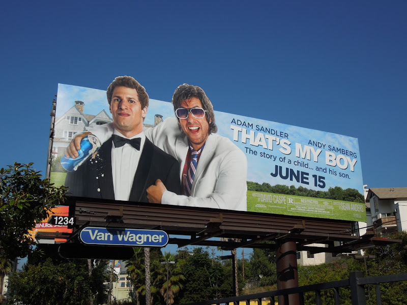 Adam Sandler Thats My Boy movie billboard