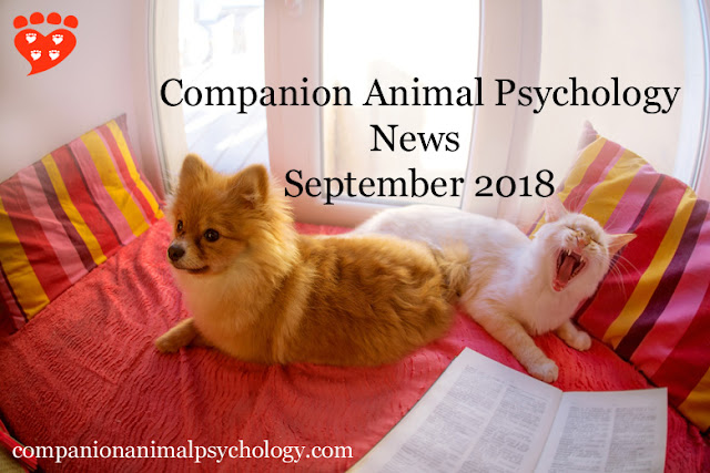 The latest newsletter from Companion Animal Psychology September 2018