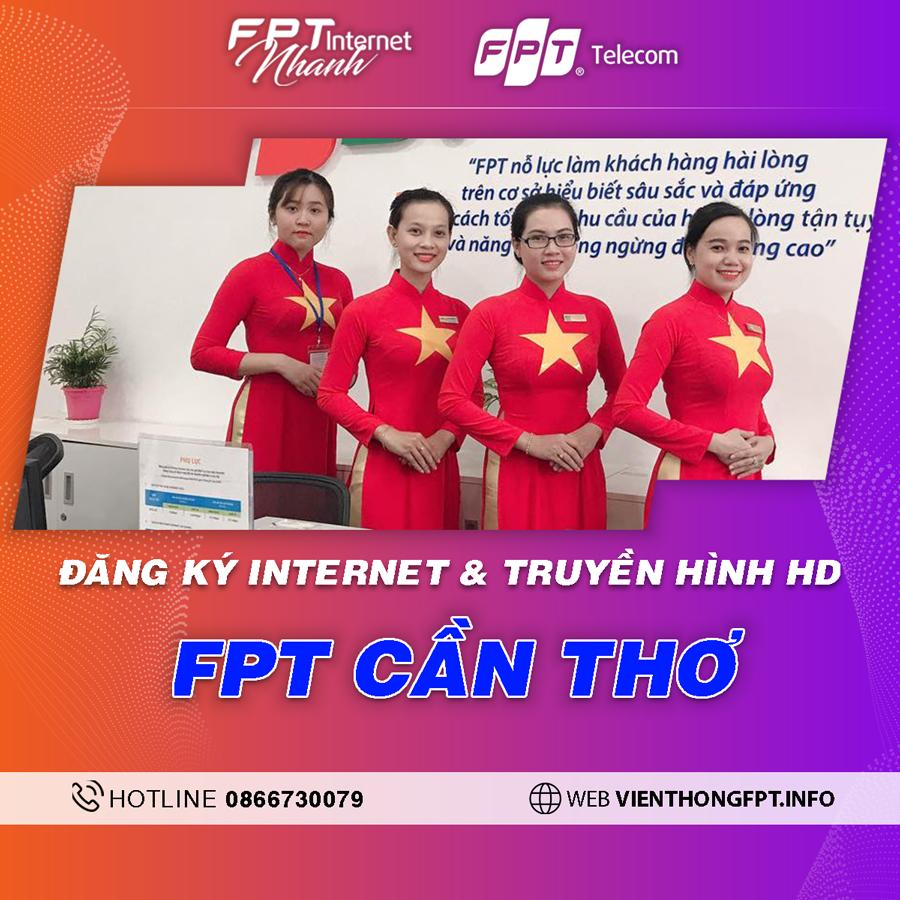 FPT Cần Thơ - Tổng đài lắp mạng Internet + Truyền hình FPT