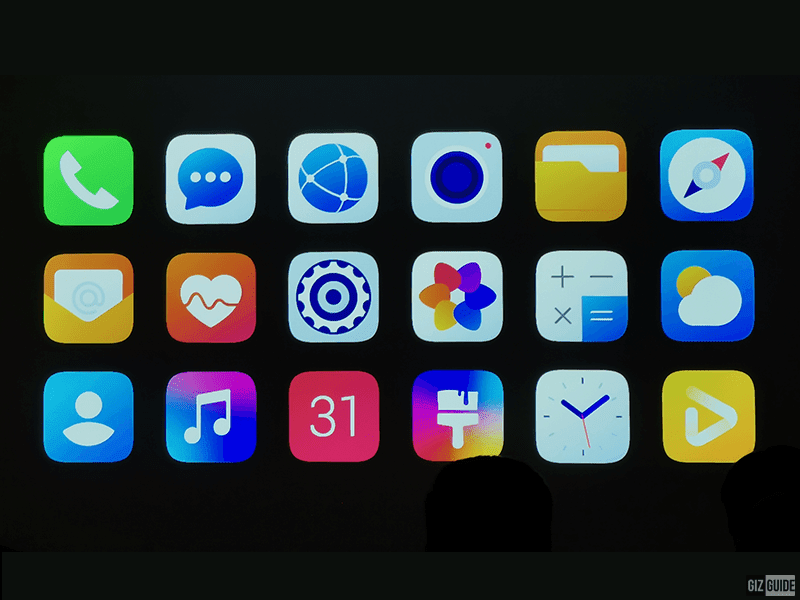 The new icons