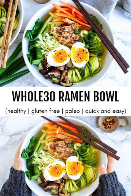 Whole30 Ramen Bowl (and how to make dashi)