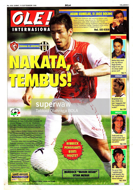 PERUGIA VS JUVENTUS HIDETOSHI NAKATA 1998