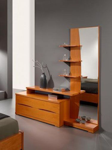 Long mirror dressing table
