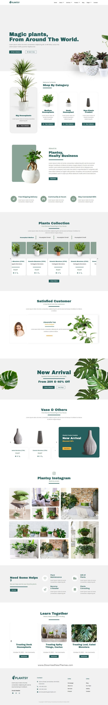 Houseplants Elementor Template Kit