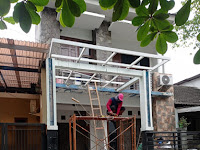Pemasangan kanopi Di Bintaro sektor 4