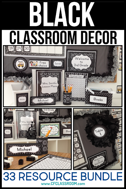 Black And White Classroom Decor Clutter Free Classroom
