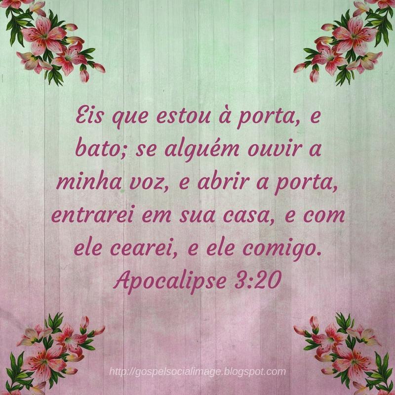 Imagens com frases de reflexão da bíblia - Apocalipse 3.20
