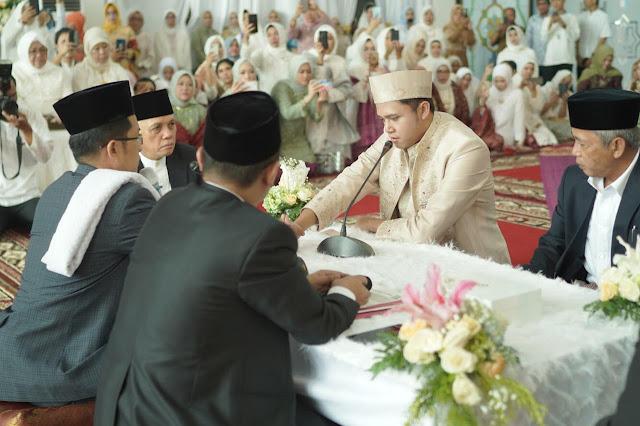 Putri Wapres Makruf Amin Hadiri Akad Nikah Alki dan Angel