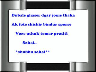 Bangla Good Morning Shayari || Bengali Shuvo Sokal SMS And Photo
