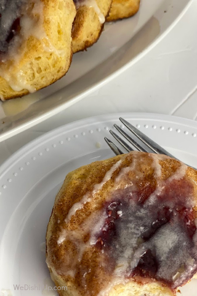 Super Easy Raspberry Danish by We Dish It Up featured at Pieced Pastimes