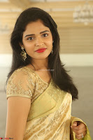 Harshitha looks stunning in Cream Sareei at silk india expo launch at imperial gardens Hyderabad ~  Exclusive Celebrities Galleries 008.JPG
