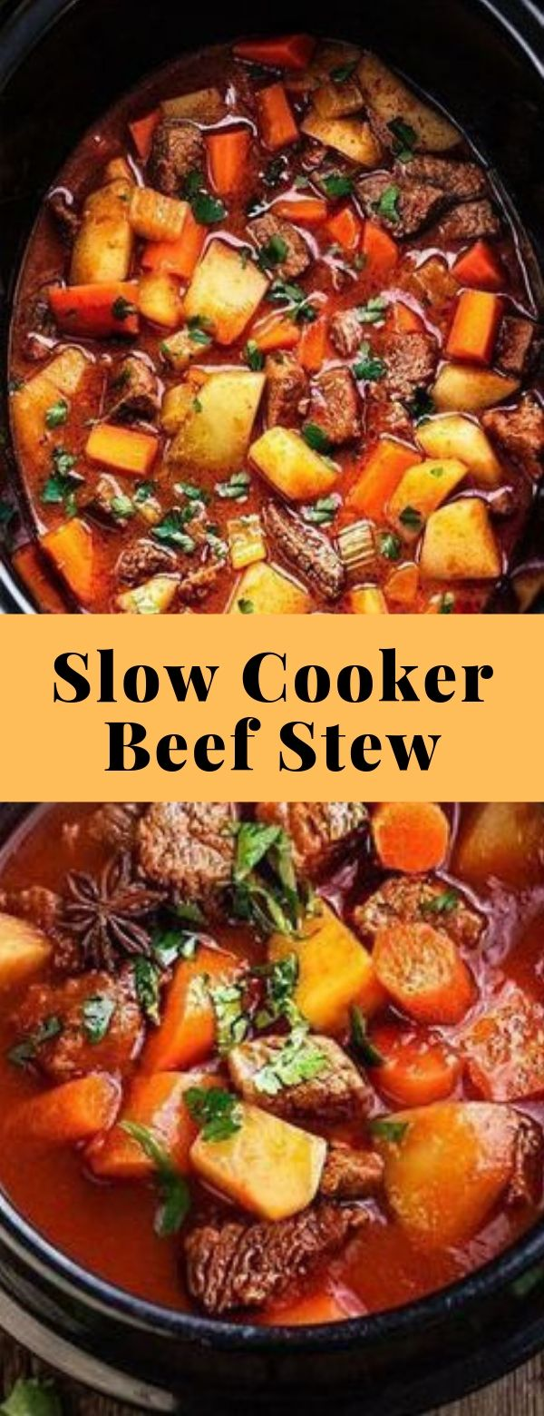 Slow Cooker Beef Stew #slowcooker #maincourse #beef #stew