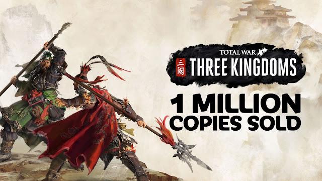 เกมสามก๊ก Total War: Three Kingdoms ทำสถิติขายได้ 1 ล้านชุดใน 1 สัปดาห์