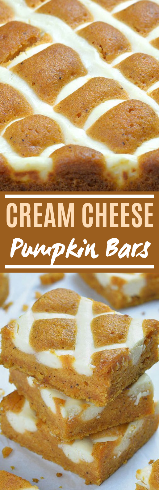 Pumpkin Bars with Cream Cheese #desserts #bars