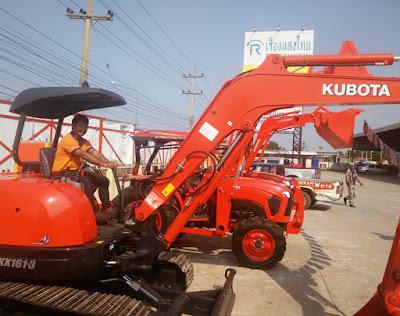 Kubota Tractors on display at Buriram Ruangsangthai