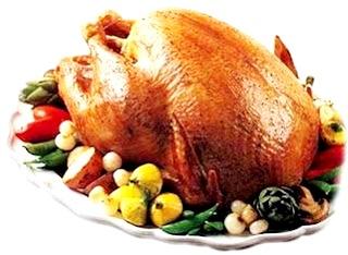 Foto de pavo cocinado por Navidad