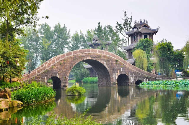 Huang Longxi ancient town, China.