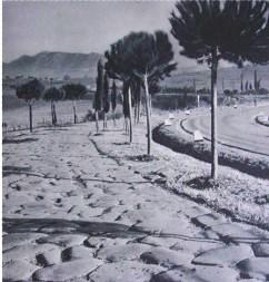un tratto della via flaminia in vista del soratte